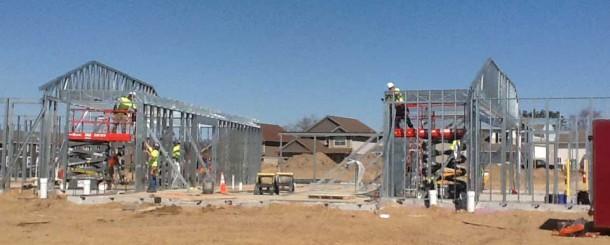 Framing the new center in Blaine